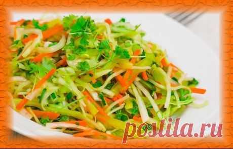 Салат из капусты и болгарского перца в маринаде | Снедание