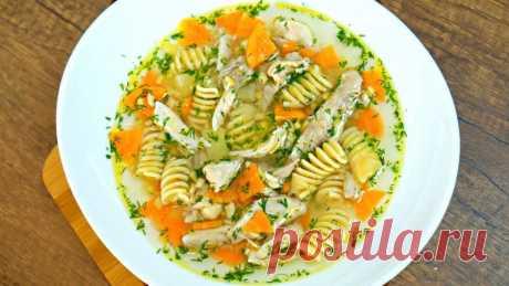 Потрясающе вкусный куриный суп - всем точно понравится! Простой рецепт на обед! — Кулинарная книга - рецепты с фото