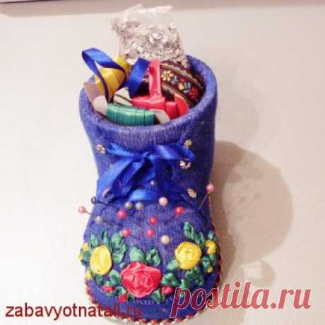Игольница-ботиночек   Забавы от Натальи