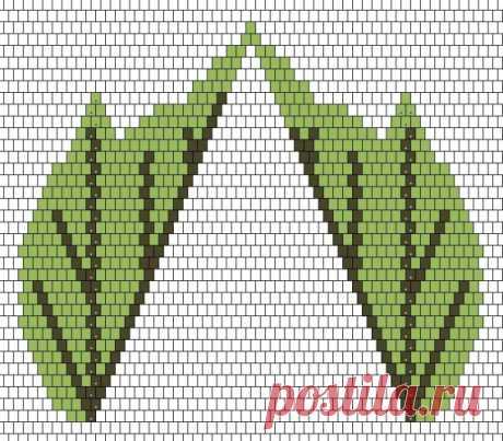 Схема листа абутилона / Схемы / Бусинка