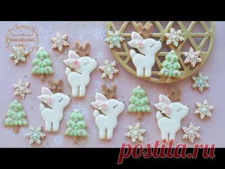 How to make SNOWY REINDEER & MINI CHRISTMAS TREE COOKIES