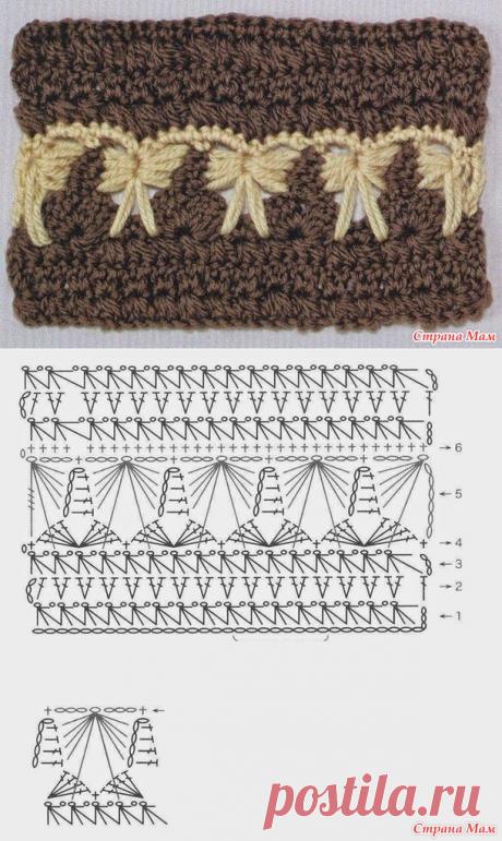 Интересный узор крючком - Вязание - Страна Мам
