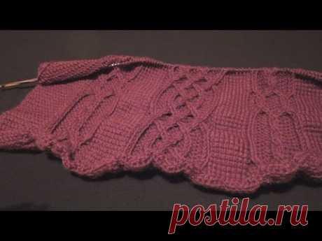 La labor de punto de Tunicia. Las trenzas y arany (Tunisian crochet. Braids and arans)
