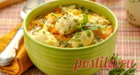 Суп с мясными клецками за 35 минут - рецепт с фото от Простоквашино