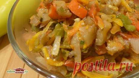 Овощное рагу - простое и вкусное блюдо из баклажанов и других сезонных овощей на скорую руку. Подходит для постного, вегетарианского меню в качестве основного блюда или гарнира. Можно кушать как горячим, так и в остывшем виде.