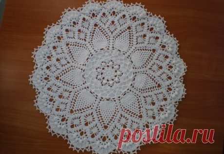 Красивое вязание | Салфетка «Doily»