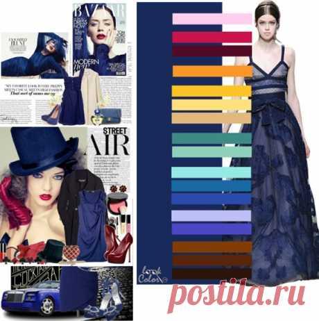 черничный цвет   Темно синий цвет сочетается с нежно розовым, амарантовым, вишневым, оранжевым, желто оранжевым, светло солнечно желтым, песочным, сине зеленым, с весенней зеленью, с аквамарином, виолой, синим, со светло бледно сиреневым, темно сиреневым, коричневым, темно коричневым, черно коричневым цветами.