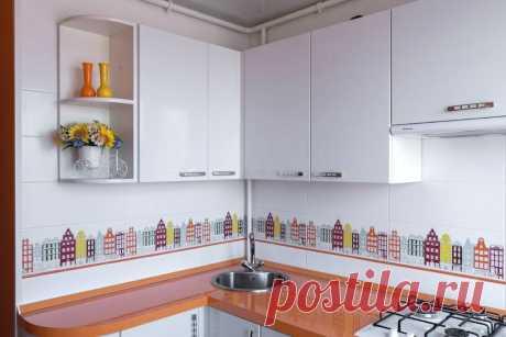 Жена поспорила с мужем, что на 5 м2 сама сделает креативный интерьер кухни – муж проиграл. Фото ремонта   Oikodomeo   Яндекс Дзен