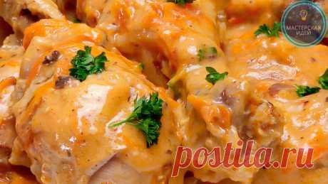 """Беру курицу, пакет ряженки и готовлю вкусный ужин на сковородке: мясо получается """"сливочным"""", нежным, так и тает во рту   Мастерская идей   Яндекс Дзен"""