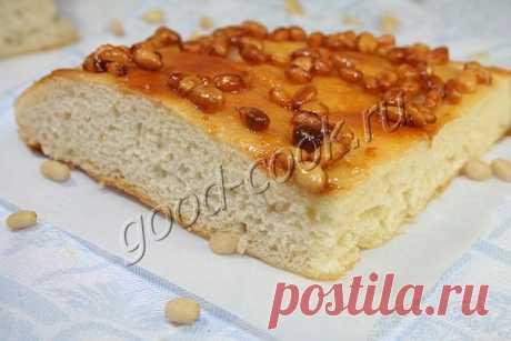 лепешка с мёдом и орехами. Рецепт приготовления
