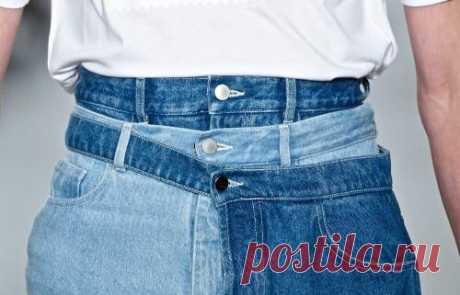 Как поднять талию у джинсов. Объясняю что, как и в чем фокус
