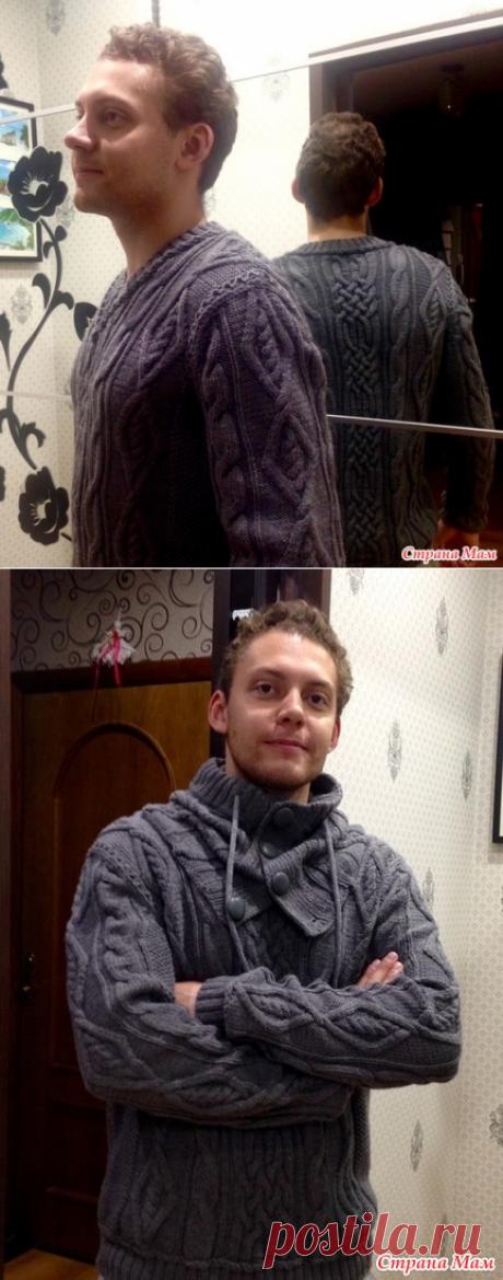 . Пуловер со снудом для сына - Вязание - Страна Мам