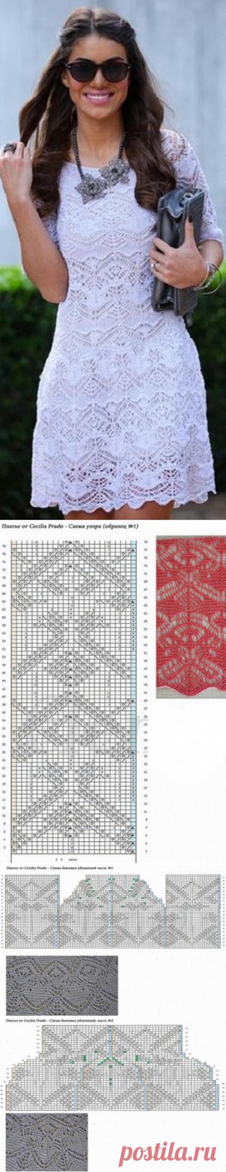 Узоры для вязаного спицами платья