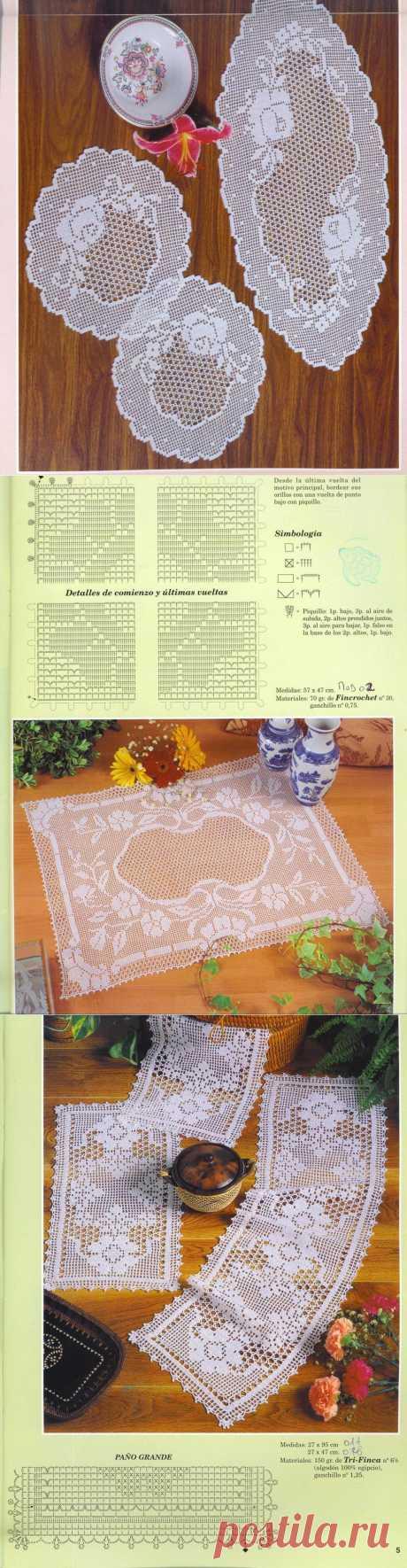 方格编织,,桌垫 - 爱上芳菲的日志 - 网易博客