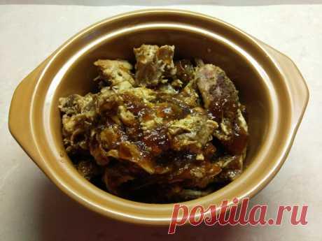 Свинина-барбекю, запеченная в духовке (рваная свинина)