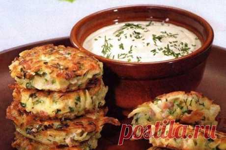 Оладьи картофельные с кабачком