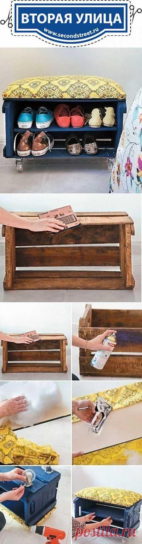 Подставка для обуви с пуфиком (Diy) / Мебель /