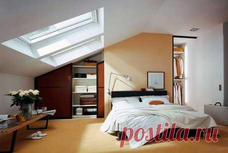 Очаровательная спальня на мансарде | Роскошь и уют
