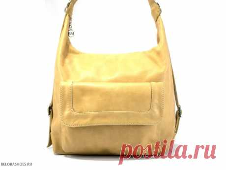 Сумка-рюкзак Маркиза, бежевый Стильная женская сумочка с одним центральным отделением