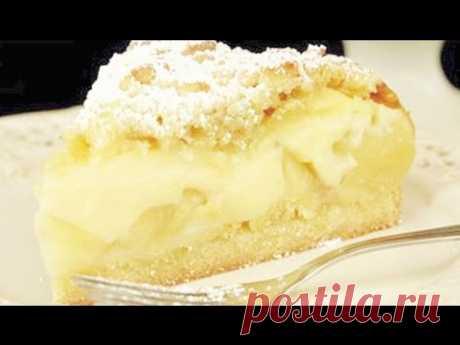 Божественная творожная шарлотка с яблоками Вкуснейшая шарлотка с яблоками и творогом. Очень простой рецепт, подойдет для выпечки как в мультиварке, так и в обычной духовке. Время запекания в духовке около 30 минут. Проверяйте деревянной шпашкой готовность пирога.