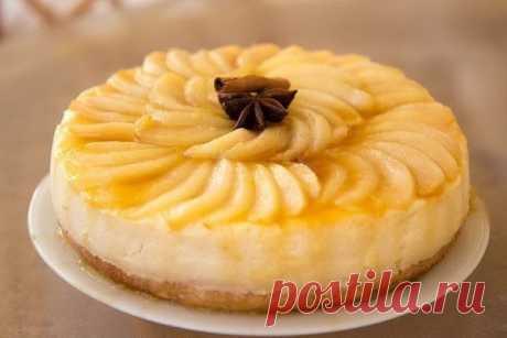 Необыкновенно вкусный и легкий грушево-карамельный торт.