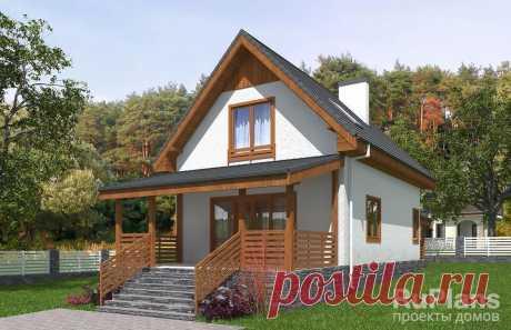 Rg5671 - Одноэтажный дом с мансардой и террасой в Астрахани
