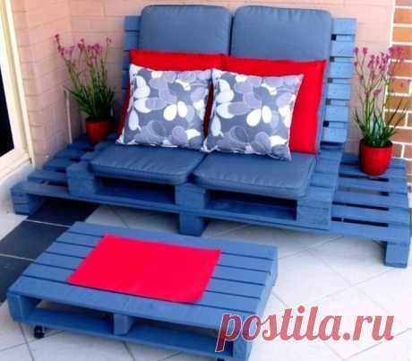 Дачная мебель из паллет
