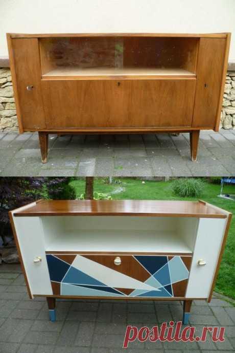 Интересные варианты преображения старой мебели