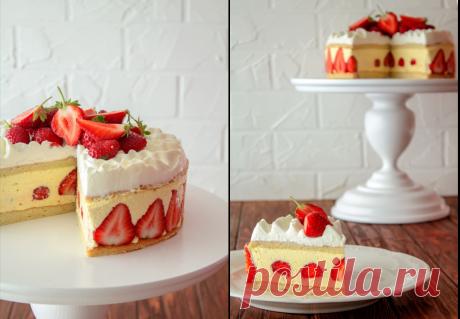 Хотите удивить гостей – приготовьте клубничный тортик а-ля Фрезье.