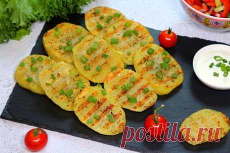 Картошка на сковороде гриль рецепт с фото - 1000.menu