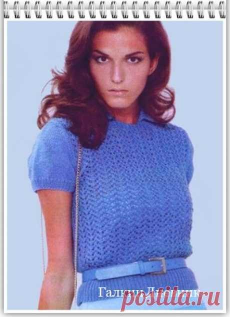 ГАЛКИН ДНЕВНИК : Кофточка спицами для женщин с коротким рукавом