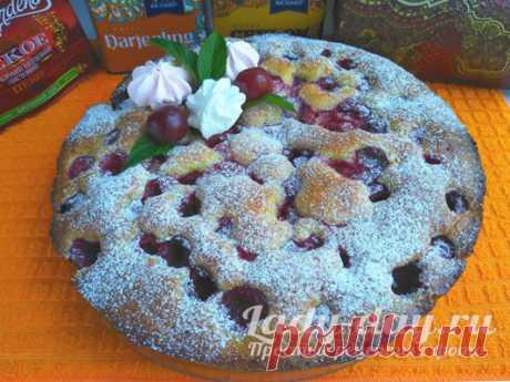Быстрый вишневый пирог: очень простой, но до чего же вкусный: пошаговый рецепт | Простые рецепты с фото