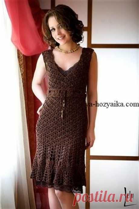 Платье крючком от Karen Millen крючком. Вязаное крючком платье схемы бесплатно