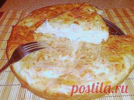 Пирог с куриной грудкой и сыром рецепт с фото