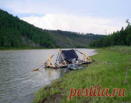 Плот для сплава по сибирским речкам своими руками