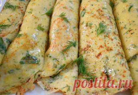 Картофельные блинчики с начинкой,  Добавили в тесто 300 грамм картофеля: блинчики просят готовить каждый день