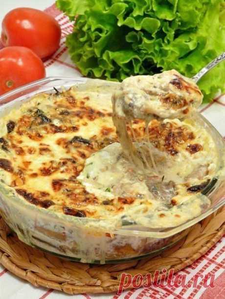 Очень сырррно-грибная запеканка: кассероль — Фактор Вкуса