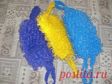 Вязание крючком мочалки