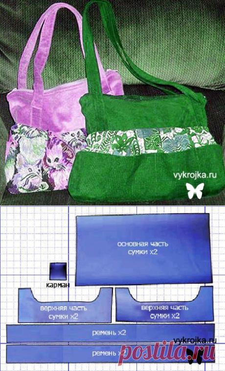 849e34c04697 Выкройка стильной сумки. Скачать выкройку сумки бесплатно. Страница 0