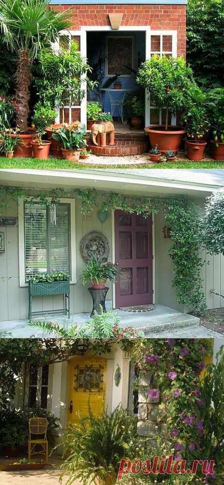 50 вариантов оформления входа в дом.