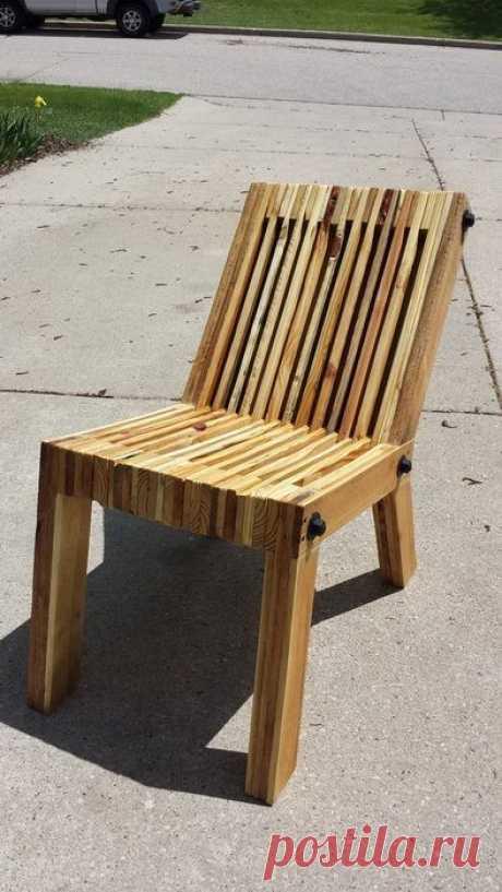 Наборный стул из дерева своими руками