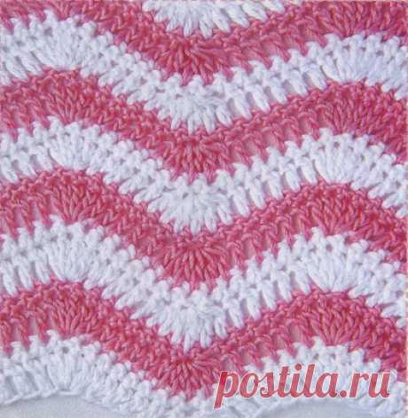Very beautiful gentle patterns hook \u000d\u000aColor zigzags\u000d\u000a\u000d\u000a\u000d\u000aThe number of loops is multiple 16 + 1 + 3 vozd. item of rise. To knit according to the scheme. To begin with loops before a rapport, to repeat rapport loops, to finish with loops after a rapport. To execute 1 time with …