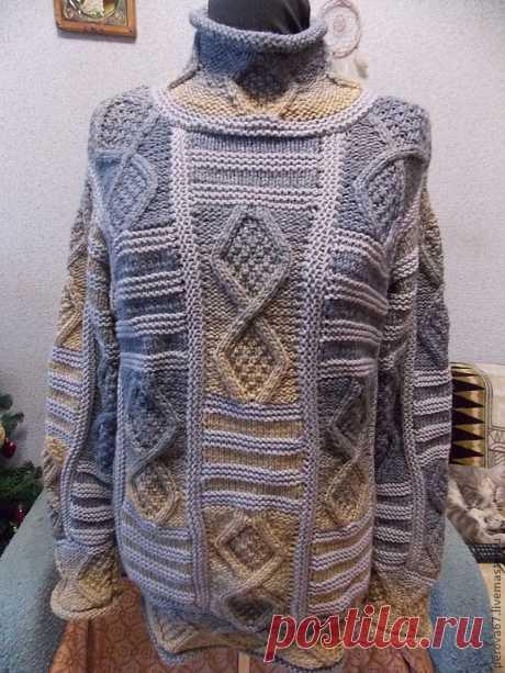 свитер в стиле пэчворк
