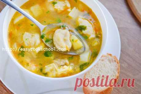 Chicken soup with trickled pastries: the recipe with a photo step by step | Easy recipes