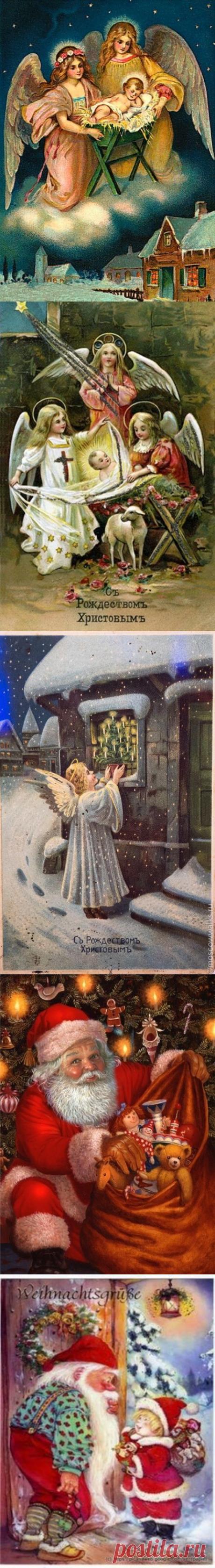 Открытки новогодние и рождественские.