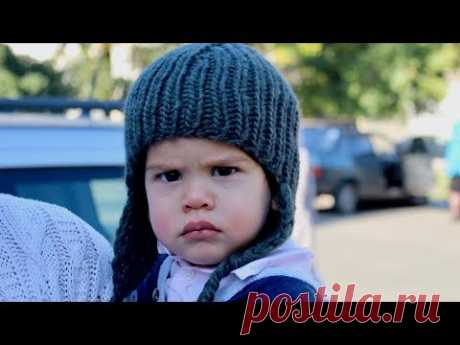 """Шапка """"МИШКА"""" СПИЦАМИ с УШКАМИ на ЛЮБОЙ возраст. ШАРФ спицами. How to knit a baby hat"""