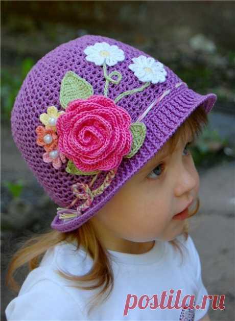 Готовимся к лету! Вяжем панамки для маленьких принцесс! | Надежда.Рукоделие и не только. | Яндекс Дзен