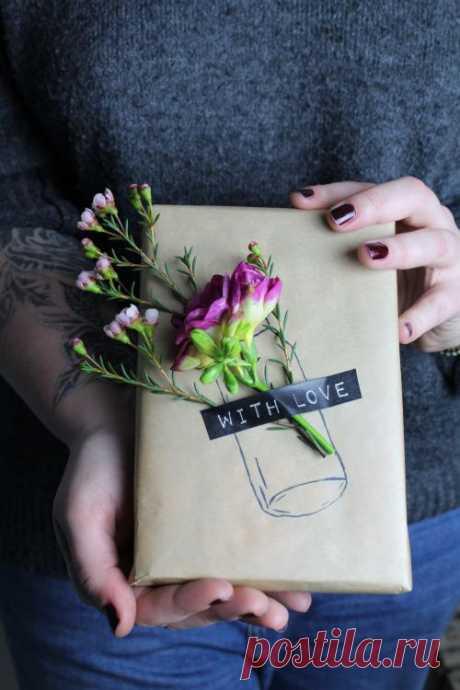 Упаковка подарков с цветами (подборка) — HandMade