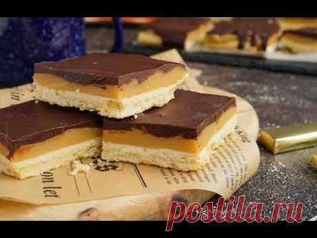 Печенье Миллионера с сгущенным молоком и шоколадом рецепт  #Shorts