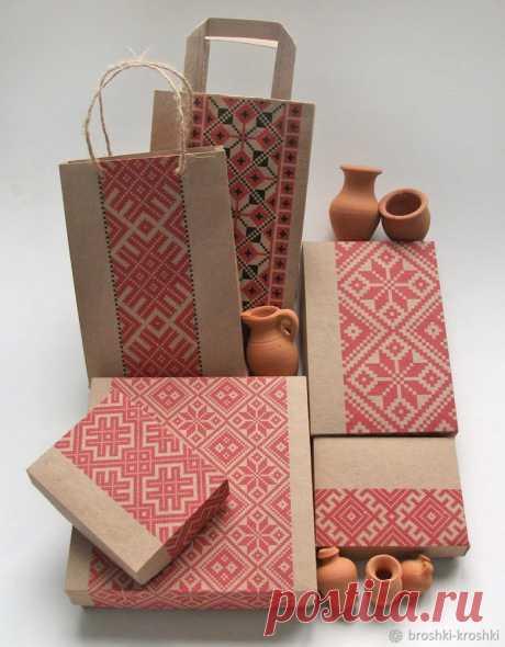Делаем упаковку из крафт-бумаги в едином стиле - Ярмарка Мастеров - ручная работа, handmade